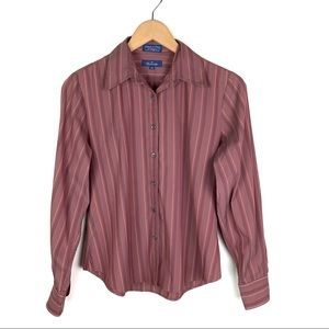 Faconnable  Striped Collared Button Down Shirt XS
